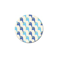 Animals Penguin Ice Blue White Cool Bird Golf Ball Marker (4 Pack) by Mariart
