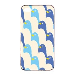 Animals Penguin Ice Blue White Cool Bird Apple Iphone 4/4s Seamless Case (black) by Mariart