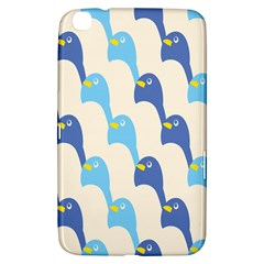 Animals Penguin Ice Blue White Cool Bird Samsung Galaxy Tab 3 (8 ) T3100 Hardshell Case  by Mariart