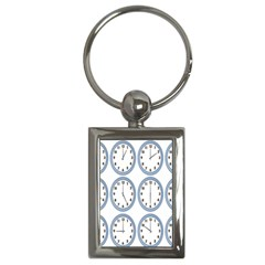 Alarm Clock Hour Circle Key Chains (rectangle)  by Mariart
