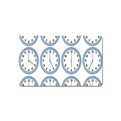 Alarm Clock Hour Circle Magnet (name Card) by Mariart
