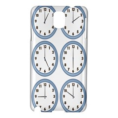 Alarm Clock Hour Circle Samsung Galaxy Note 3 N9005 Hardshell Case by Mariart
