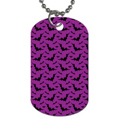 Animals Bad Black Purple Fly Dog Tag (two Sides) by Mariart