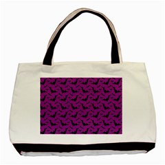 Animals Bad Black Purple Fly Basic Tote Bag (two Sides) by Mariart