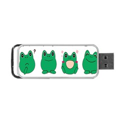 Animals Frog Green Face Mask Smile Cry Cute Portable Usb Flash (one Side) by Mariart