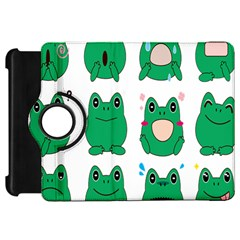 Animals Frog Green Face Mask Smile Cry Cute Kindle Fire Hd 7  by Mariart