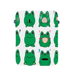 Animals Frog Green Face Mask Smile Cry Cute Apple Ipad 2/3/4 Protective Soft Cases by Mariart