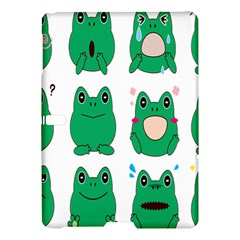 Animals Frog Green Face Mask Smile Cry Cute Samsung Galaxy Tab S (10 5 ) Hardshell Case  by Mariart