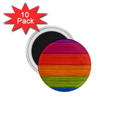 Wooden Plate Color Purple Red Orange Green Blue 1 75  Magnets (10 Pack)  by Mariart