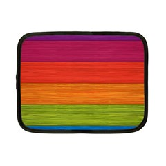 Wooden Plate Color Purple Red Orange Green Blue Netbook Case (small)  by Mariart