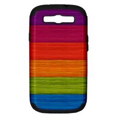 Wooden Plate Color Purple Red Orange Green Blue Samsung Galaxy S Iii Hardshell Case (pc+silicone) by Mariart