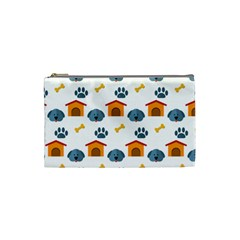 Bone House Face Dog Cosmetic Bag (small)  by Mariart