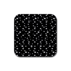 Black Star Space Rubber Square Coaster (4 Pack)  by Mariart