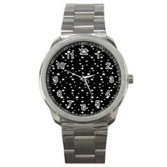 Black Star Space Sport Metal Watch by Mariart