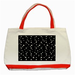 Black Star Space Classic Tote Bag (Red) by Mariart