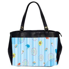 Animals Whale Sunflower Ship Flower Floral Sea Beach Blue Fish Office Handbags (2 Sides)  by Mariart