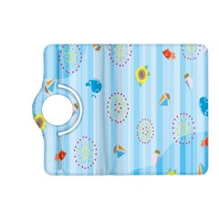 Animals Whale Sunflower Ship Flower Floral Sea Beach Blue Fish Kindle Fire Hd (2013) Flip 360 Case by Mariart