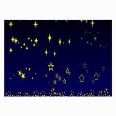 Blue Star Space Galaxy Light Night Large Glasses Cloth by Mariart