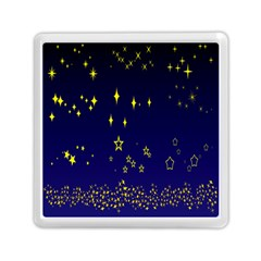 Blue Star Space Galaxy Light Night Memory Card Reader (square)  by Mariart