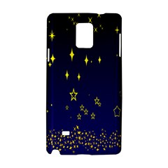 Blue Star Space Galaxy Light Night Samsung Galaxy Note 4 Hardshell Case by Mariart