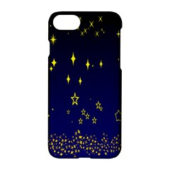 Blue Star Space Galaxy Light Night Apple Iphone 7 Hardshell Case by Mariart