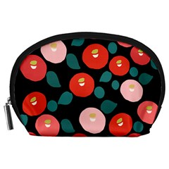 Candy Sugar Red Pink Blue Black Circle Accessory Pouches (large)  by Mariart