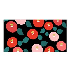 Candy Sugar Red Pink Blue Black Circle Satin Shawl by Mariart