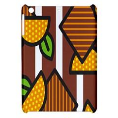 Chocolate Lime Brown Circle Line Plaid Polka Dot Orange Green White Apple Ipad Mini Hardshell Case by Mariart