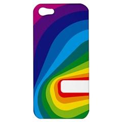 Circle Rainbow Color Hole Rasta Waves Apple Iphone 5 Hardshell Case by Mariart