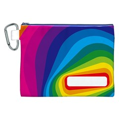 Circle Rainbow Color Hole Rasta Waves Canvas Cosmetic Bag (xxl) by Mariart