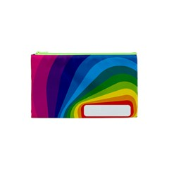 Circle Rainbow Color Hole Rasta Waves Cosmetic Bag (xs) by Mariart