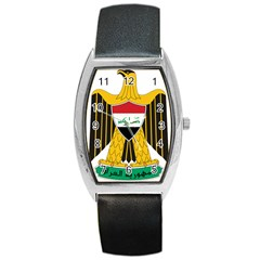 Coat Of Arms Of Iraq  Barrel Style Metal Watch by abbeyz71