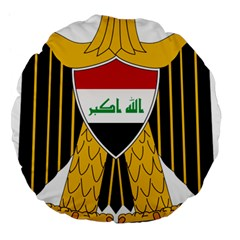 Coat Of Arms Of Iraq  Large 18  Premium Flano Round Cushions by abbeyz71
