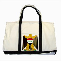 Coat Of Arms Of Iraq  Two Tone Tote Bag by abbeyz71