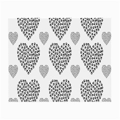 Black Paw Hearts Love Animals Small Glasses Cloth (2 Side) by Mariart