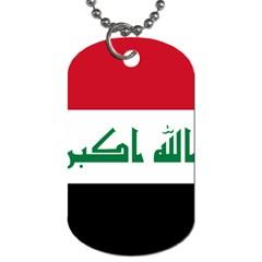 Flag Of Iraq Dog Tag (two Sides) by abbeyz71