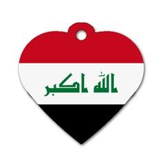 Flag Of Iraq Dog Tag Heart (two Sides) by abbeyz71