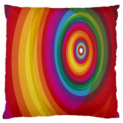 Circle Rainbow Color Hole Rasta Large Cushion Case (two Sides) by Mariart