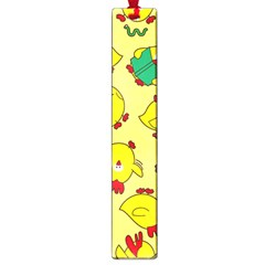 Animals Yellow Chicken Chicks Worm Green Large Book Marks by Mariart