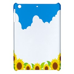 Cloud Blue Sky Sunflower Yellow Green White Apple Ipad Mini Hardshell Case by Mariart