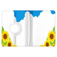 Cloud Blue Sky Sunflower Yellow Green White Kindle Fire Hdx Flip 360 Case by Mariart
