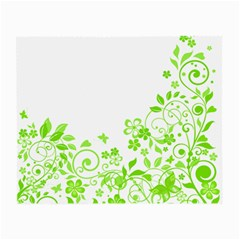 Butterfly Green Flower Floral Leaf Animals Small Glasses Cloth (2 Side) by Mariart