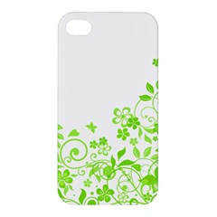 Butterfly Green Flower Floral Leaf Animals Apple Iphone 4/4s Premium Hardshell Case by Mariart