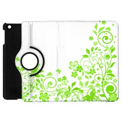 Butterfly Green Flower Floral Leaf Animals Apple Ipad Mini Flip 360 Case by Mariart