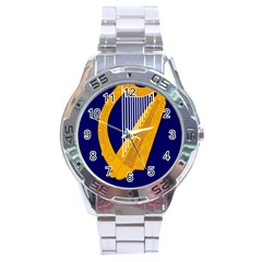 Coat Of Arms Of Ireland Stainless Steel Analogue Watch by abbeyz71