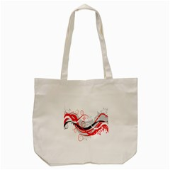 Flower Floral Star Red Wave Tote Bag (cream) by Mariart