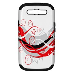 Flower Floral Star Red Wave Samsung Galaxy S Iii Hardshell Case (pc+silicone) by Mariart
