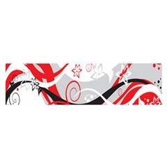 Flower Floral Star Red Wave Satin Scarf (oblong) by Mariart