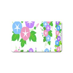 Flower Floral Star Purple Pink Blue Leaf Magnet (name Card) by Mariart