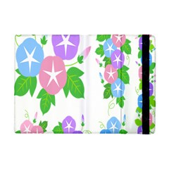 Flower Floral Star Purple Pink Blue Leaf Apple Ipad Mini Flip Case by Mariart